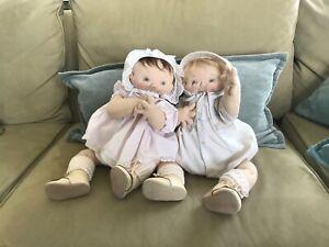 jan shackelford set of baby dolls... baby boy and girl