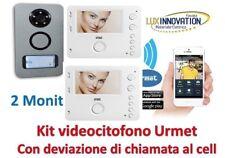 Kit videocitofono 2 monitor urmet con rinvio chiamata al cellulare call me