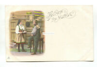 Hilsen fra Norge - man, woman & food - early Norway postcard