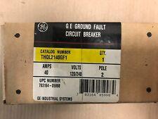NEW IN BOX GE THQL 2 Pole 40 Amp 120V THQL2140GFI Circuit Breaker