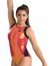 NWT E2411 Stunning Shiny Aly Raisman GK ™ gymnastics leotard Free Scrunchie AS