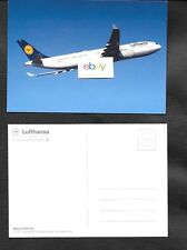 LUFTHANSA GERMAN AIRLINES AIRBUS A330-300 AIRLINE ISSUE POSTCARD
