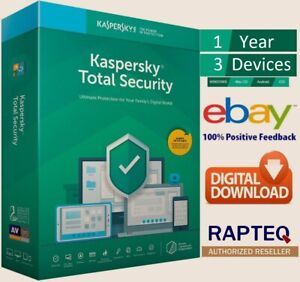 Kaspersky Total Security 2021 3 Devices 1 year PC/Mac/Android UK only