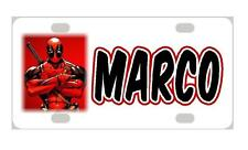 DEADPOOL Personalized Kids MINI LICENSE PLATE Any Name Bicycles Door Sign
