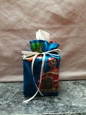 Paw Patrol Dogs Pups on blue Cotton Fabric Handmade square Tissue Box Cover