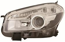 For Nissan Qashqai 2010-2014 Chrome Front Headlight Headlamp N/S Passenger Left