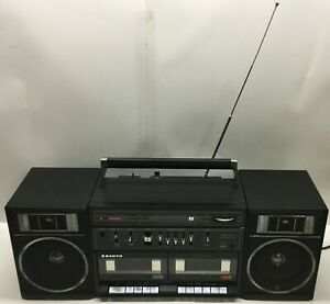 Vintage Sanyo C35 Boombox Dual Cassette Player Stereo Equalizer Detach Speakers