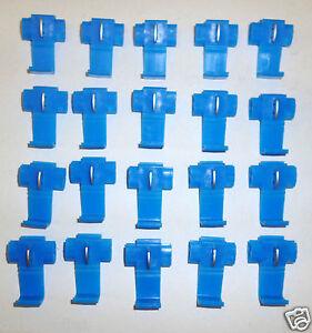 20 BLUE WIRE JOINER CONNECTORS SCOTCHLOK AUTO CAR RADIO TAXI METER