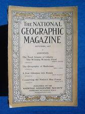 National Geographic Magazine September 1917 Vintage Ads Car Truck Advertising