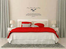 "32"" LAY ME DOWN TO SLEEP STORK AMEN LORD QUOTE VINYL DECAL STICKER romance"