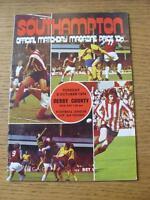 08/10/1974 Southampton v Derby County [Football League Cup] (Item has no apparen