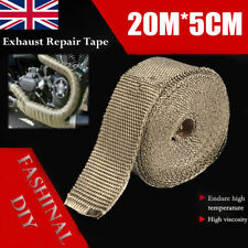 20M Titanium Exhaust Heat Wrap Manifold Downpipe High Temp Bandage Tape Roll NEW