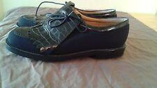 Stuart Weitzman Black Crock and Goretex Women's Golf Shoes~Spain~SZ 5
