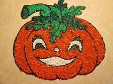 Vintage Melted Popcorn Halloween Pumpking Jack O Lantern
