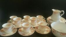 More details for early 20th century aynsley floral 8 trios- part tea set-26 pieces-very good con.