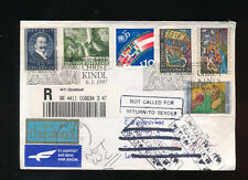 Christkindl Reco-Brief 6.1.1997 LZ Wien nach England, retour  (C37)