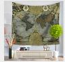 Wall Hanging Tapestry Vintage World Map Mandala Bedspread Dorm Living Room Deco