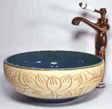 Vintage Bathroom Cloakroom Ceramic Counter Top Small Basin Sink Washing Bowl