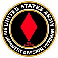 UNITED STATES Army Veteran 5th Infantry Division Decal Window Bumper Sticker