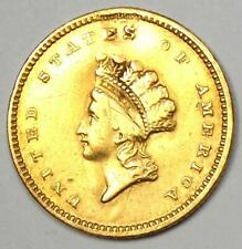 1854 Type 2 Indian Dollar Gold Coin (G$1) - XF Details (Plugged) - Rare Type 2 !