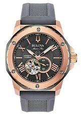 Bulova Marine Star Men's Automatic Open Aperture Grey Dial 45mm Watch 98A228