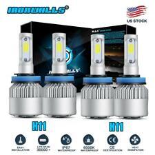 4Pcs LED Headlight Bulbs H11 + H11 Combo 4000W 600000LM High Low Beam Fog Lights