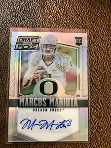 2015 Panini Prizm DRAFT PICKS AUTO Marcus Mariota RC Oregon Titans MINT