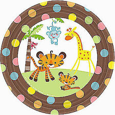 Creative Converting 8 Count Safari Adventure Placemats with Kids Activity Stickers Multicolor