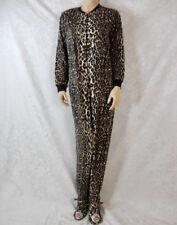 Nick & Nora one piece Pajamas leopard print Fleece soft Footie pjs #688