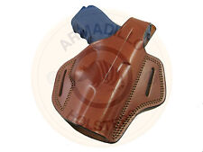 Armadillo Holsters Inc. Tan Butterfly Belt Holster w/snap for Beretta F92 (OWB)