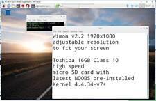 1920x1080 wimon NOTEBOOK TEL TABLET DISPLAY TOSHIBA 16 GB per Raspberry Pi 3