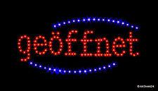 LED geöffnet G1 - Schild|Leuchtreklame|Stopper|Neon|Werbung|EXTRA HELL| - NEU