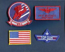 PETE MAVERICK MITCHELL TOP GUN MOVIE Logo US NAVY F-14 Squadron Patch Set