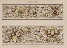 "Nach Fr. v. HOLLACKY, ""Moderne Friese"", Rokoko-Stil, um 1890-1900, Chromolith"