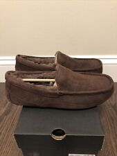 New UGG Men's Size 13 Ascot Moccasin Slipper CHO Chocolate Brown
