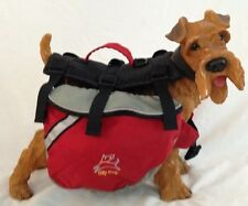 "Red Black 11X19"" Large Pet Dog Cat Harnes OLLYDOG Backpack With 2 Compartments"