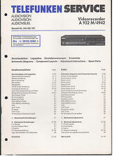 Service Manual Telefunken Audiovision Videorecorder A932M 4942 (106)