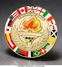 OLYMPIC PINS 2012 LONDON ENGLAND GOLD MEDAL MEDALLION + FLAGS & TORCH RELAY