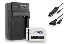 2x Batteries EN-EL12 + Chargeur pour Nikon Coolpix S1100pj, S1200pj, S6000