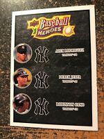 Derek Jeter/Cano/Rodriguez 2008 Upper Deck Baseball Heroes CHARCOAL BLACK #188