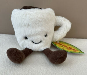 NEW Jellycat Amuseable Espresso Cup Coffee Soft Toy Comforter White Brown BNWT