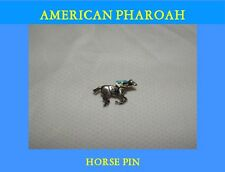 AMERICAN PHAROAH 2015 PREAKNESS STAKES HORSE RACING JOCKEY SILKS #1 PIN BUTTON