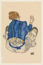Egon Schiele 1915 Seated Woman Back View 12x7 inch Print