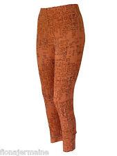 TOP Leggings Leggins Musterleggings Hose Orange Schrift-Print 42/44 46/48 50/52