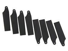 4 Pairs Plastic 450 Tail Rotor Blade For T-REX 450 GF V2 SPORT PRO Black