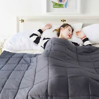 KASENTEX COZY WEIGHTED BLANKET, 100% NATURAL ULTRA SOFT COTTON. GIFT.