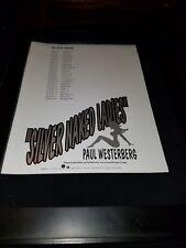 Paul Westerberg Silver Naked Ladies Rare Original Radio Promo Poster Ad Framed!