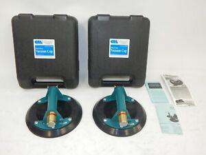"Set of 2 NEW CRL Powr-Grip Wood's Pwer Grip Vacuum Cups 8"" W4950 G0659"