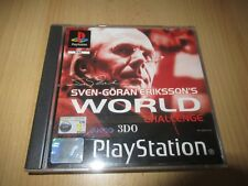 Sven Goran Eriksson World Challenge SONY PLAYSTATION 1 ps1 mint collectors pal