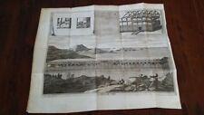 NCISIONE STAMPA RAME CEPPARULI 1736 L ARCA DI NOE' ORIGINAL